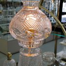 Hand cut Glass 24% lead crystal lamp 2 part