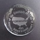 Obama crystal paperweight, glass, forward, 44th President of USA Limied edition