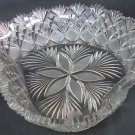 American Brilliant Period Cut Glass heart shape bowl Straus