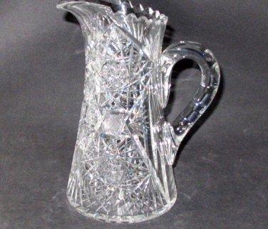 American Brilliant Period Cut Glass water jug  Antique , crystal