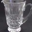 Signed Waterford glass Hand Cut Tramore pitcher Irish Crystal