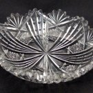 American Brilliant Period Cut Glass dish Signed Libbey  Antique ABP
