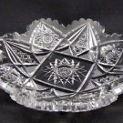 American Brilliant Period Cut Glass dish Straus or Blackmer  Antique