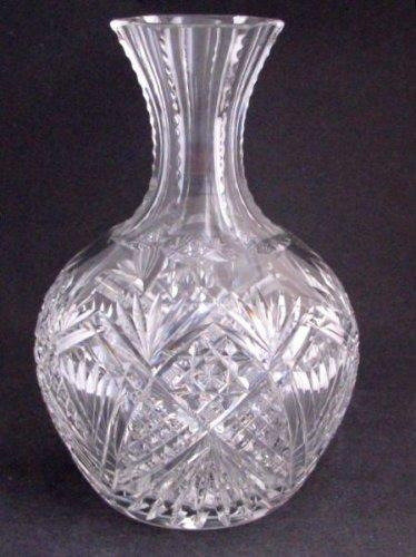 American Brilliant Period Cut Glass  carafe / vase  Antique