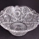 American Brilliant Period Hand Cut Glass Antique Flared bowl ABP