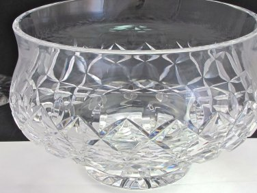 """Signed Waterford Hand Cut glass pedestal bowl / centerpiece 8""""  Crystal"""