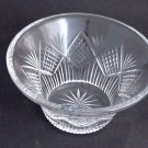 Old  hand Cut Glass bowl Crystal heavy