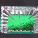 Hand Cut Glass paperweight, crystal, rainbow of color ONE OF A KIND