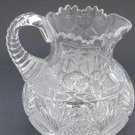 American Brilliant Period Cut Glass Pitcher  Antique
