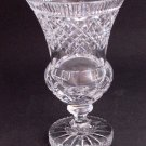 Hand Cut glass Pedestal vase cut star on base