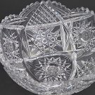 American Brilliant Period hand Cut Glass and mouth blown bowl signed Clark