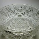 American Brilliant Period Hand Cut Glass Antique Ferner in Harvard Pattern