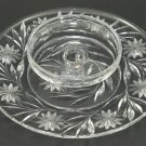 American Brilliant Period hand Cut Glass chip n dip