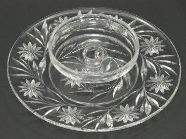 American Brilliant Period hand Cut Glass chip n dip