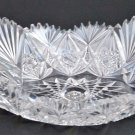 American Brilliant Period hand Cut Glass oval odd shape dish