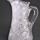 American Brilliant Period Cut Glass  pitcher ANTIQUE ABP