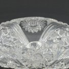 American Brilliant Period hand Cut Glass rolled in shape bowl ABP