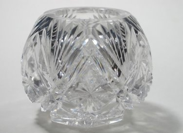 ABP cut glass mini voilet vase,   Antique crystal