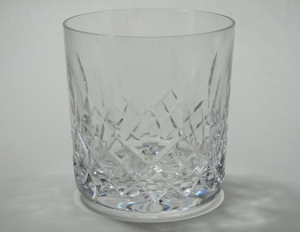 Signed Waterford CUT GLASS Lismore double on rocks