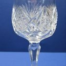 American Brilliant Period Cut Glass water goblet Antique abp hand cut bell shape