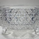 American Brilliant Period Hand Cut Glass legged bowl  abp sterling