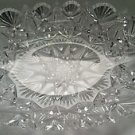 American Brilliant Period hand Cut Glass oval tray  blown blank