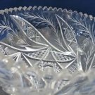 American Brilliant Period Cut Glass bowl  ABP  Antique Floral