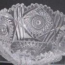 American Brilliant Period hand Cut Glass  bowl 7.75""