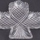 American Brilliant Period Cut Glass club shape dish ABP antique