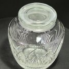 Cut glass Crystal candy jar Saratoga  Made in USA Mt Pleasant PA