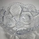 American Brilliant Period hand Cut Glass  bowl ANDERSON ?
