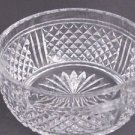 Signed  Webb Hand Cut Glass  bowl english blown blank