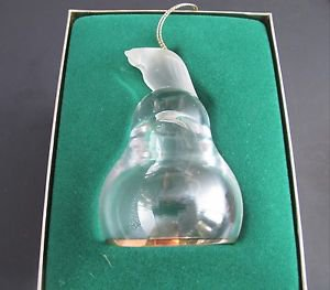 Lenox Crystal Partridge  miniature bell ornament Hand blown Made in USA