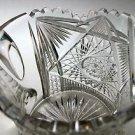 American Brilliant Period hand Cut Glass Antique squat pitcher ABP