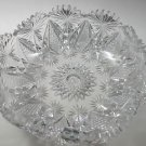 ABP hand Cut Glass mouth blown crimped crystal bowl wheel polished