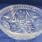 American Brilliant Period Cut Glass bowl  ABP  Antique Floral WHEEL CUT