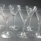 Cut stem cocktail glass  6 piece