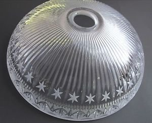Glass lamp shade 24%  lead crystal, Made in USA