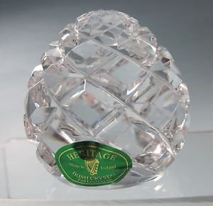 Heritage Irish crystal Hand cut paperweight
