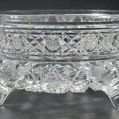American Brilliant Period hand Cut Glass planter /  bowl 3 legs Antique