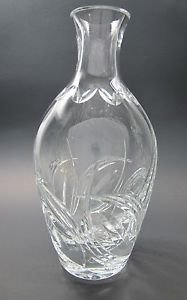 Cut glass carafe / vase 24% lead crystal