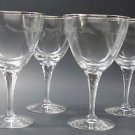 4 Tiffin Rivirea platinum Hand cut glass goblets never used, in shipping box
