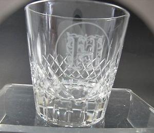 """Hand Cut double on the rocks Glass hand polished Custom """" H"""""""