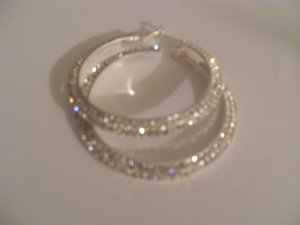 S. Crystal hoops