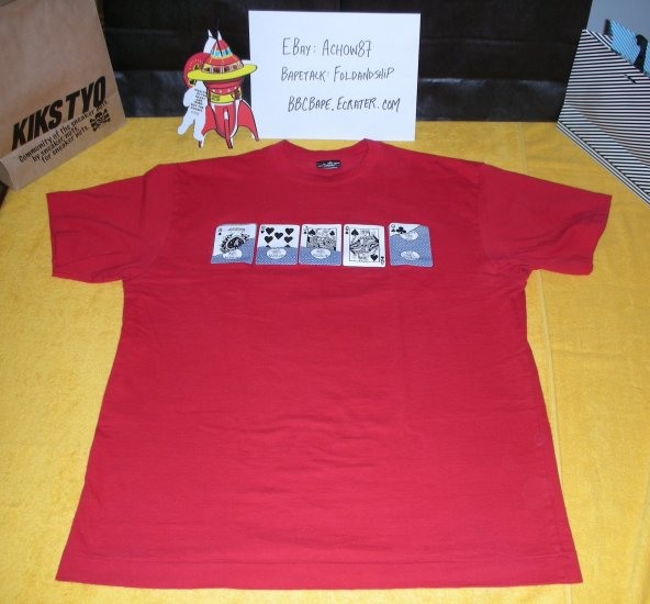 BBC Playing Cards Shirt - Red XL