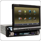 "One Din Car DVD Player With 7"" Touch Screen & Bluetooth Function"