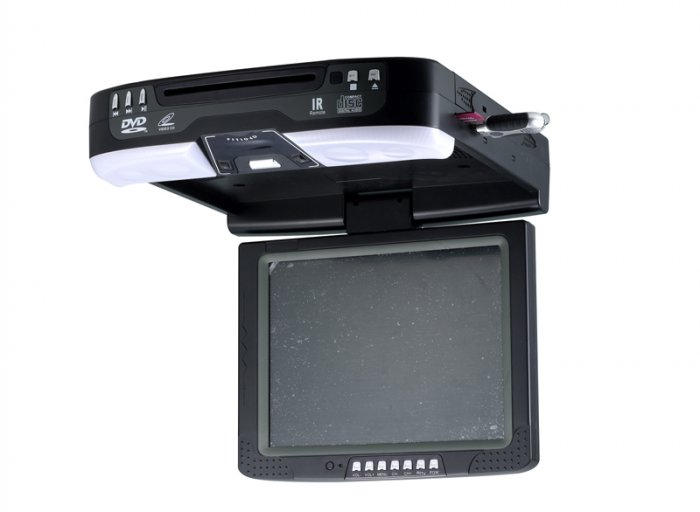 "Car Roofmount DVD Player With 10.4"" TFT LCD & SD & USB & VGA Port"