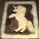 Alpaca fur Rug, Carpet 78x60 cm (30.42x23.4), unihorn