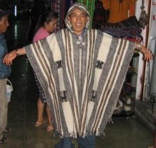 Hooded Poncho, ethnic coat made of Alpacawool,Outerwear