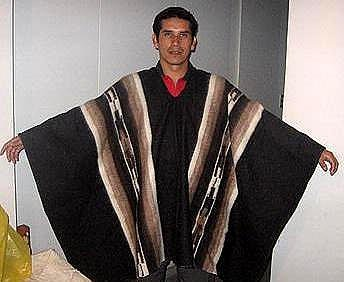 Original typical peruvian Poncho, alpacawool, outerwear